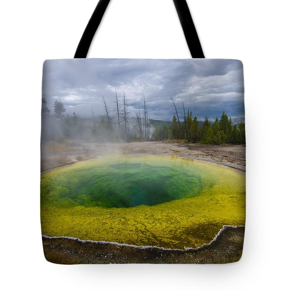 Tote Bag featuring the photograph Morning Glory Pool by Gary Lengyel