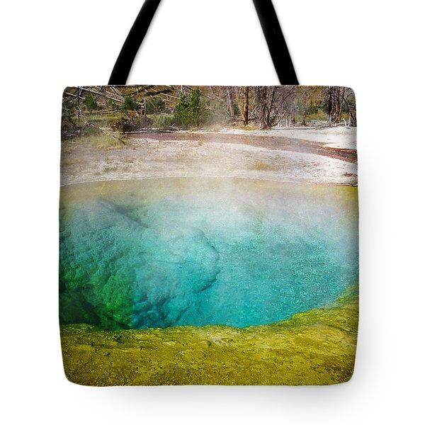 Morning Glory Pool Yellowstone National Park Tote Bag