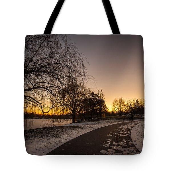 Morning Glow Along Hoyt Lake Tote Bag