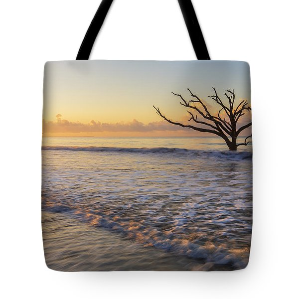 Morning Glow At Botany Bay Beach Tote Bag
