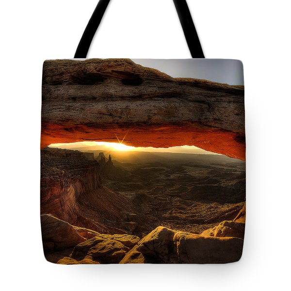 Morning Glow At Mesa Arch Tote Bag