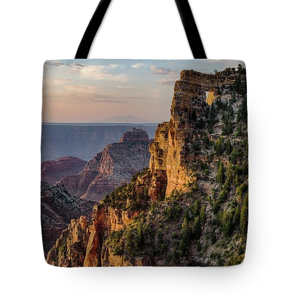 Morning Glow On Angels Window Tote Bag