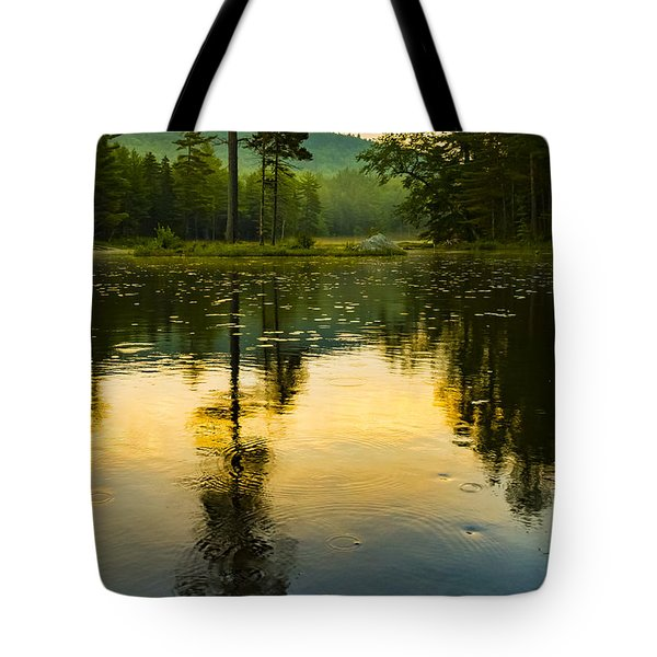 Morning Glow On Lake Tote Bag