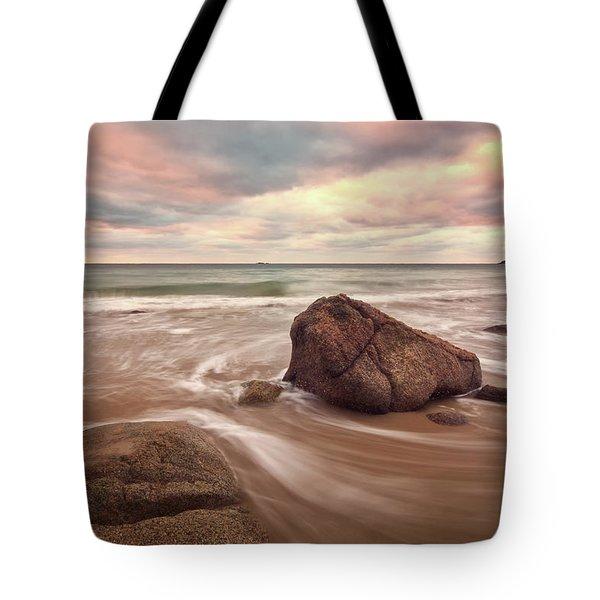 Morning Glow Singing Beach Ma Tote Bag