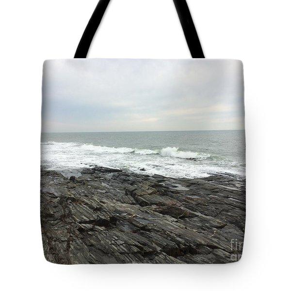 Morning Horizon On The Atlantic Ocean Tote Bag