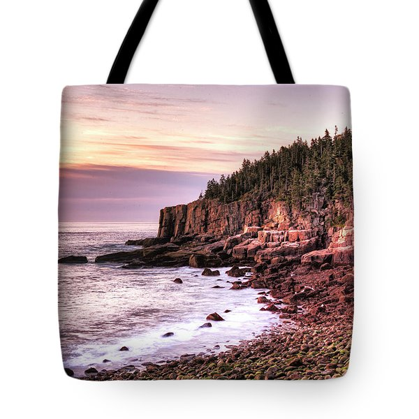 Morning In Acadia Tote Bag