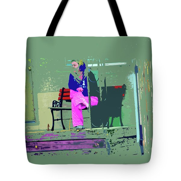 Morning In Her Pink Pajamas Tote Bag by Lenore Senior