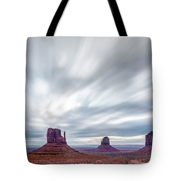Morning In Monument Valley Tote Bag by Jon Glaser
