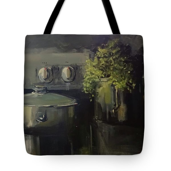 Tote Bag featuring the painting Morning In Nikolo's Kitchen by Sandra Strohschein