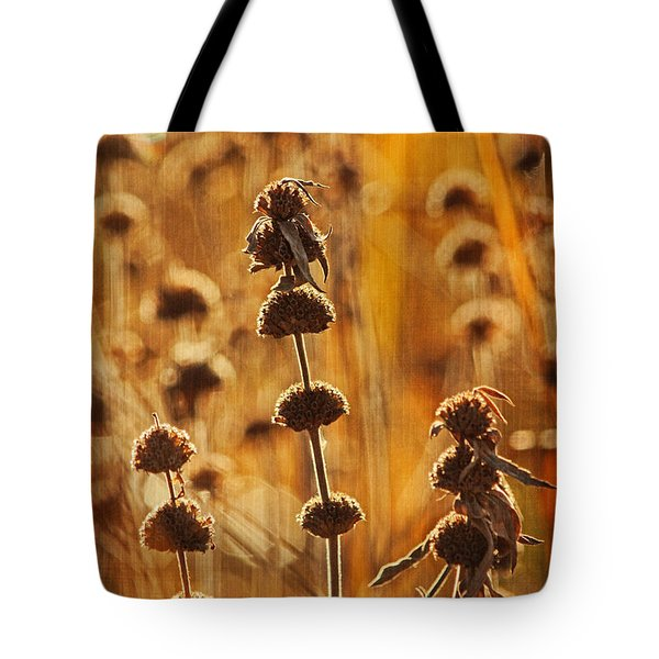 Morning In October Text Tote Bag