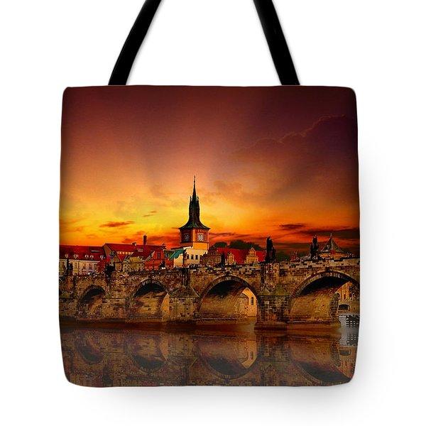 Morning In Prague Tote Bag