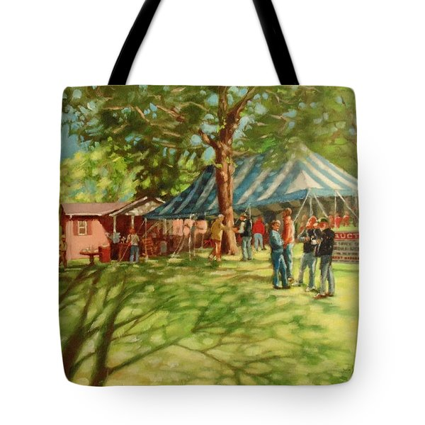 Morning In Ringgold Tote Bag by Janet McGrath