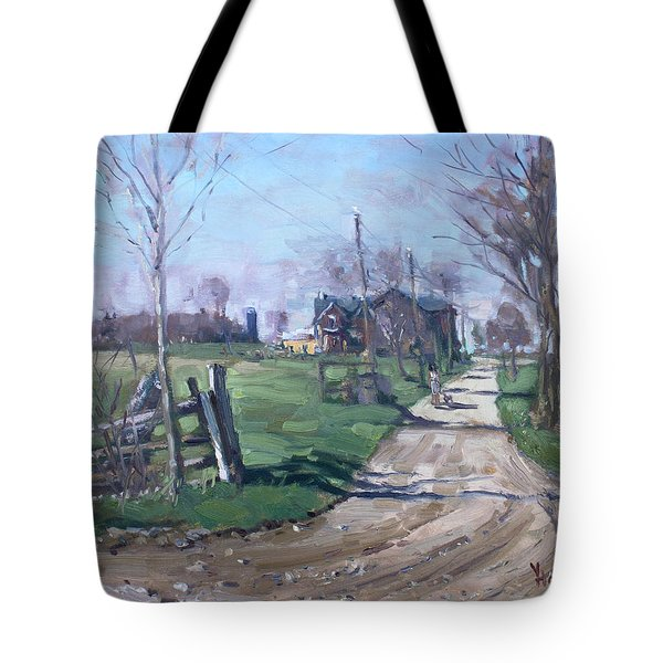 Morning In The Farm Georgetown Tote Bag