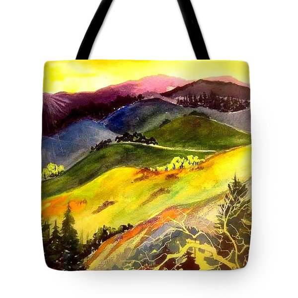 Morning In The Hills Tote Bag