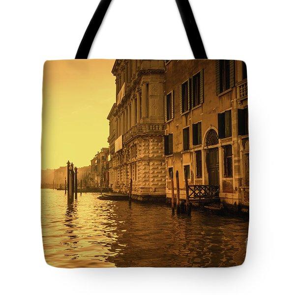 Morning In Venice Sepia Tote Bag