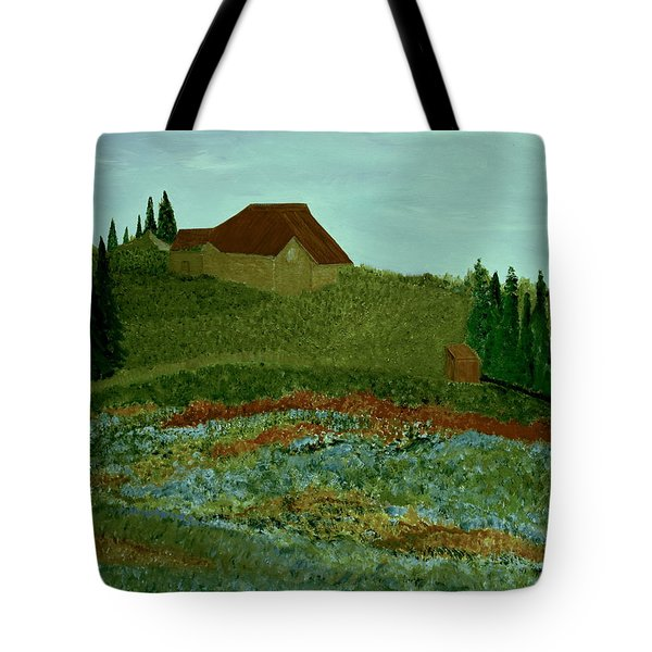 Tote Bag featuring the painting Morning In Vevey by Bill OConnor