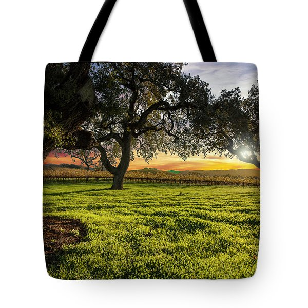 Morning In Wine Country Tote Bag