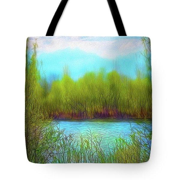 Morning Lake In Stillness Tote Bag