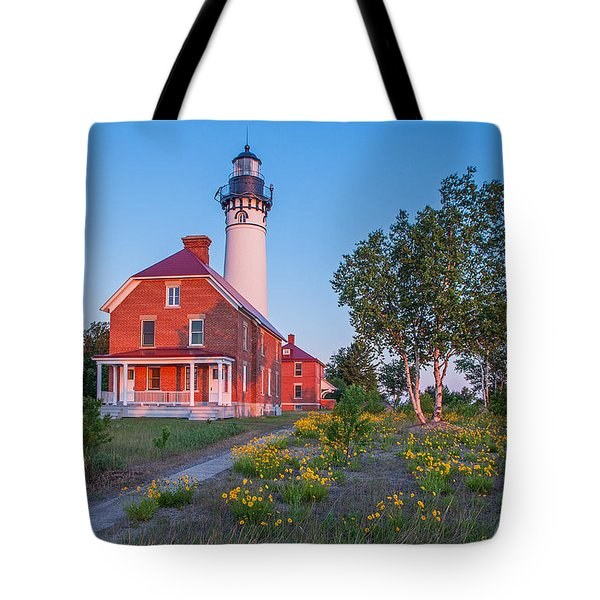 Morning Light At Au Sable Point Tote Bag