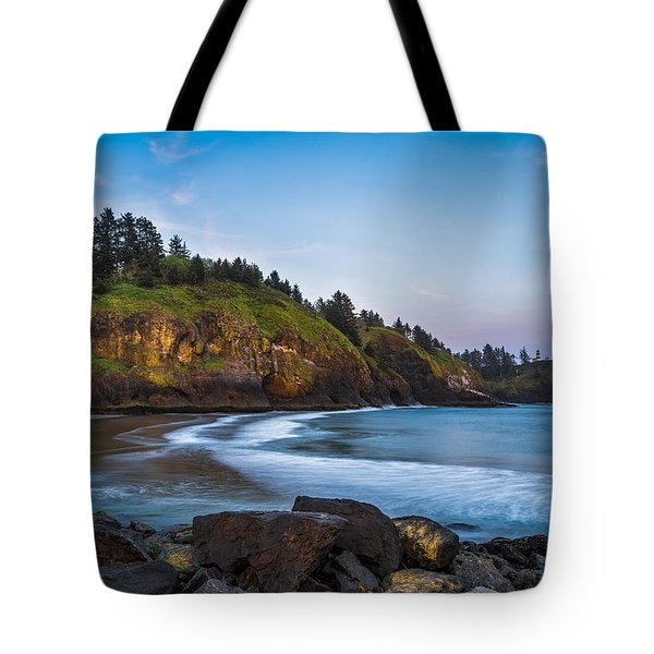 Morning Light At Cape Disappointment Tote Bag by Ken Stanback