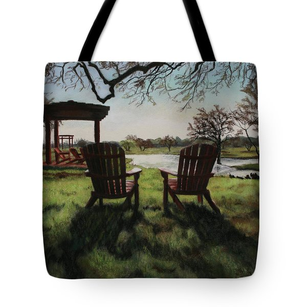 Morning Light At The Vineyard Florence Texas Tote Bag by Kelly Borsheim
