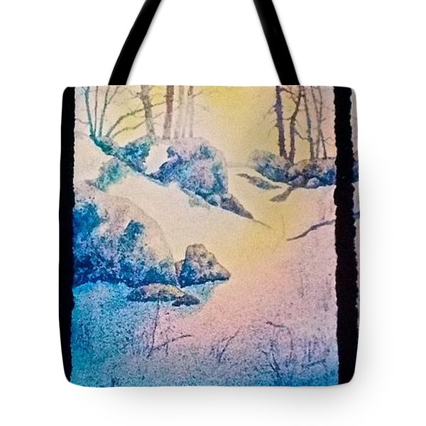Tote Bag featuring the painting Morning Light by Carolyn Rosenberger