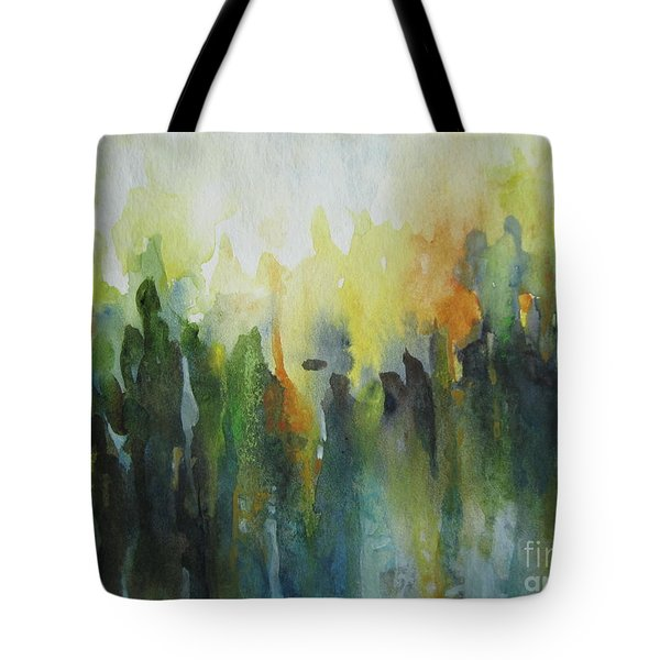 Tote Bag featuring the painting Morning Light by Elena Oleniuc