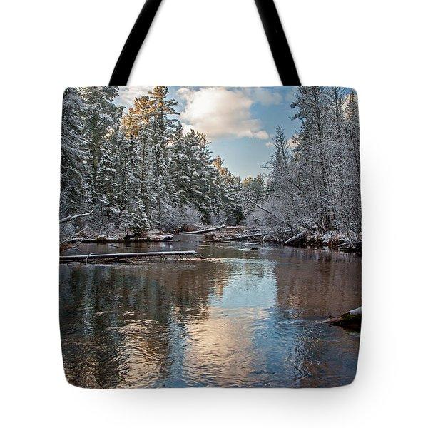 Morning Light On Grand Marais Creek Tote Bag
