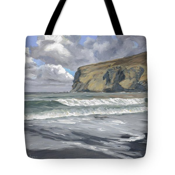 Morning Light On Pencannow Point Tote Bag