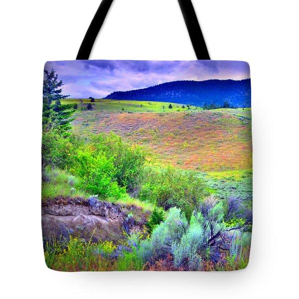 Morning Light On The Hillside Tote Bag