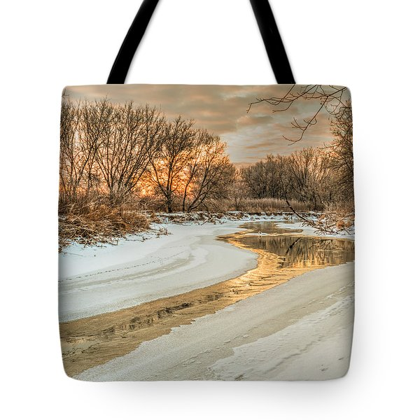 Morning Light On The Riverbank Tote Bag