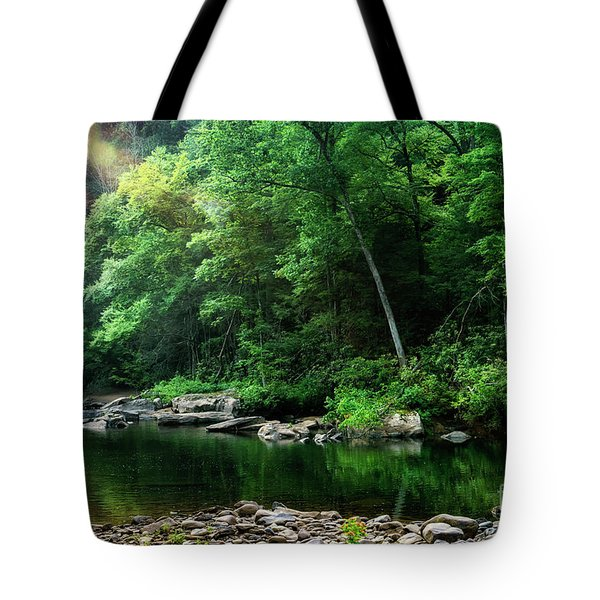 Morning Light On Williams River  Tote Bag