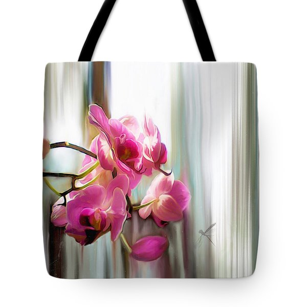 Morning Light Orchids Tote Bag