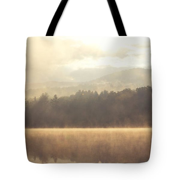 Morning Light Over The Mountains Tote Bag by Stephanie McDowell