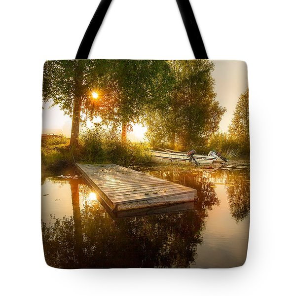 Tote Bag featuring the photograph Morning Light by Rose-Maries Pictures