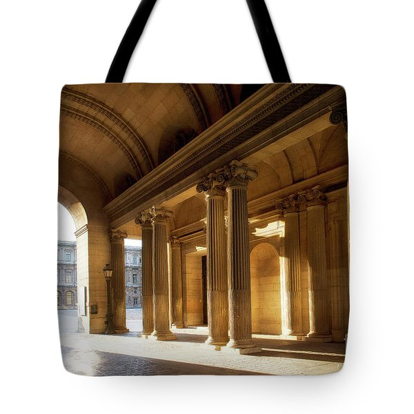 Tote Bag featuring the photograph Morning Lights At The Louvre Museum by Ivy Ho