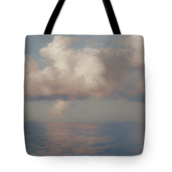 Tote Bag featuring the painting Morning Lights by Rosario Piazza