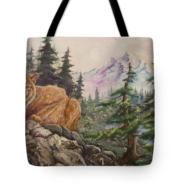 Morning Lynx Tote Bag