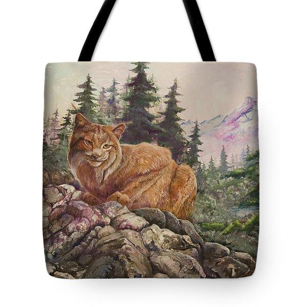 Morning Lynx Tote Bag