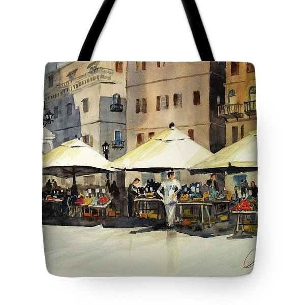 Morning Market Tote Bag