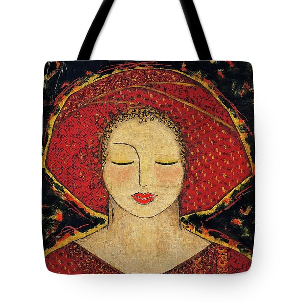 Tote Bag featuring the mixed media Morning Meditation by Gloria Rothrock