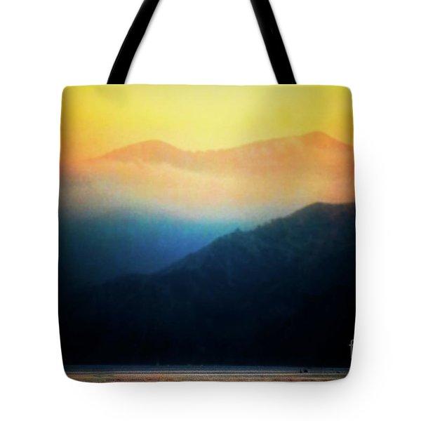 Morning Mist Catalina Island California Usa Tote Bag