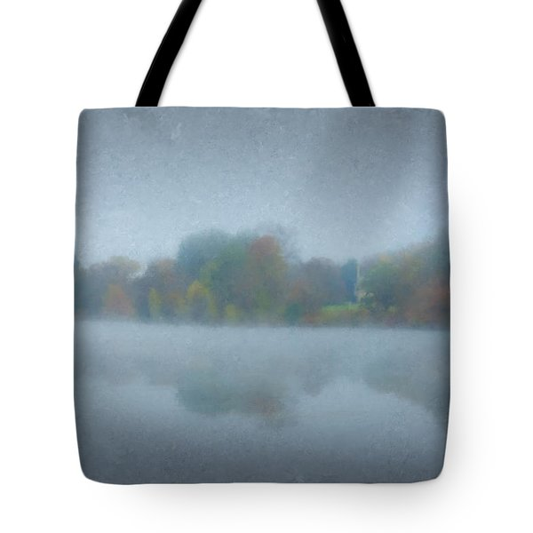 Morning Mist On Langwater Pond Tote Bag