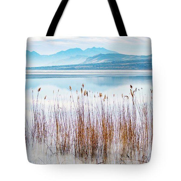 Morning Mist On The Lake Tote Bag