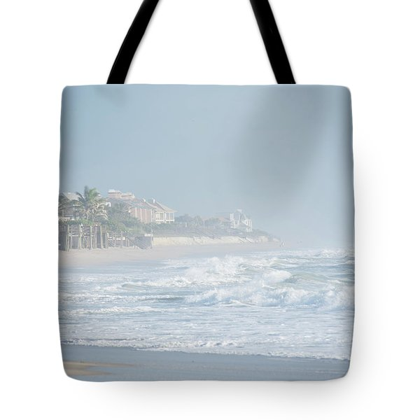Morning Mist On Vero Beach Tote Bag