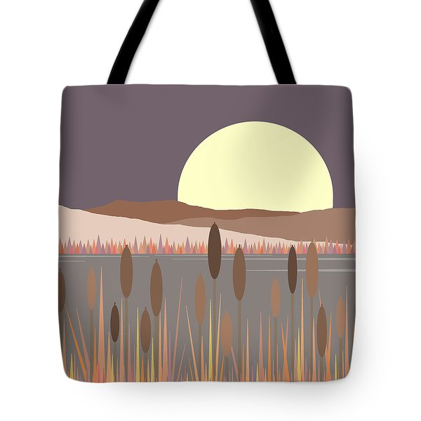 Morning Moon Tote Bag by Val Arie