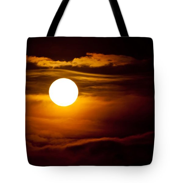 Morning Moonset Tote Bag