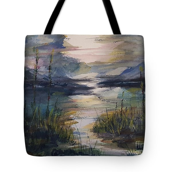 Morning Mountain Cove Tote Bag