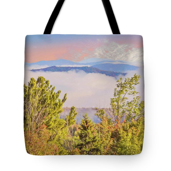 Morning Mountain View Northern New Hampshire. Tote Bag
