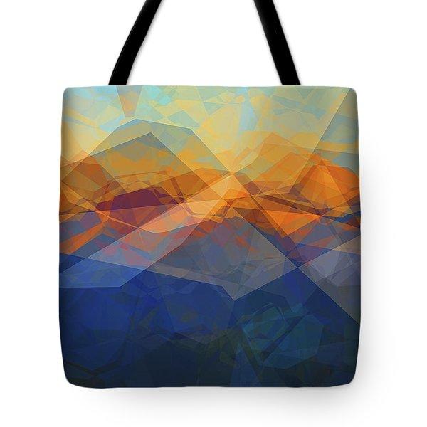 Morning Mountain View Tote Bag